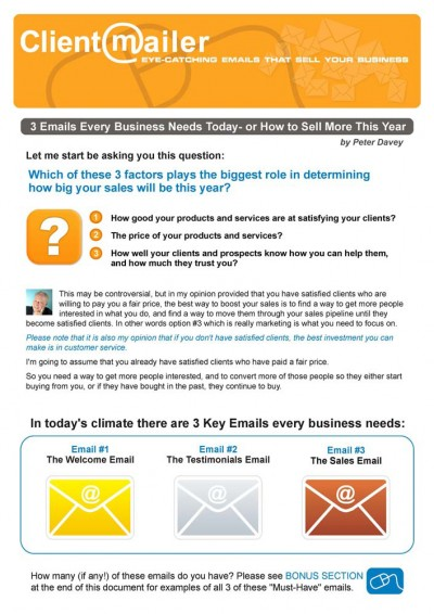 3 Emails Every Business Needs by ClientMailer