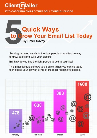 5 Ways to Grow Your Email List Today by ClientMailer
